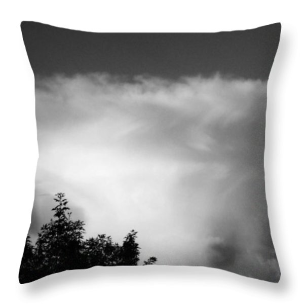 Storm Cloud Throw Pillow by Juergen Weiss