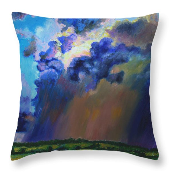 Storm Clouds Over Missouri Throw Pillow by John Lautermilch