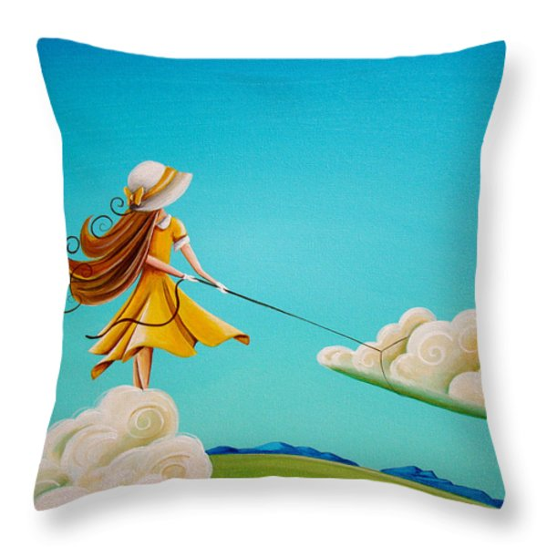 Storm Development Throw Pillow by Cindy Thornton
