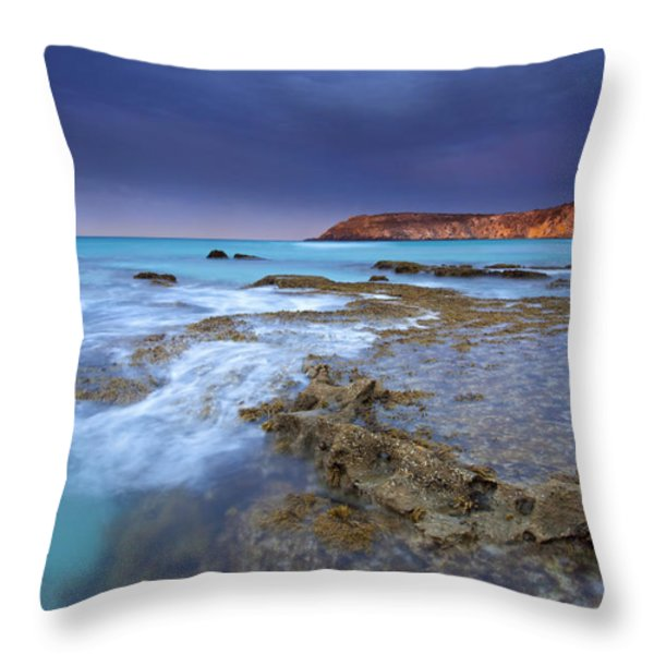 Storm Light Throw Pillow by Mike  Dawson