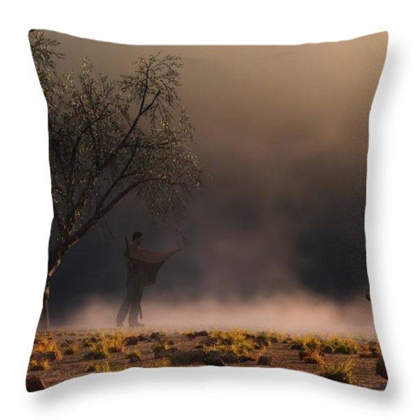 Stormwalk Throw Pillow by Daniel Eskridge