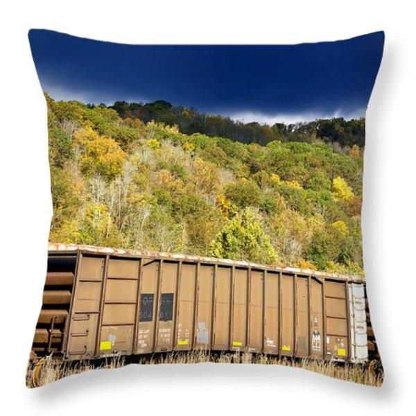 Stormy Autumn Morning Sky Throw Pillow by Thomas R Fletcher