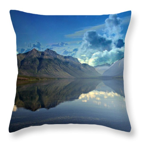 Stormy Lake Throw Pillow by Marty Koch