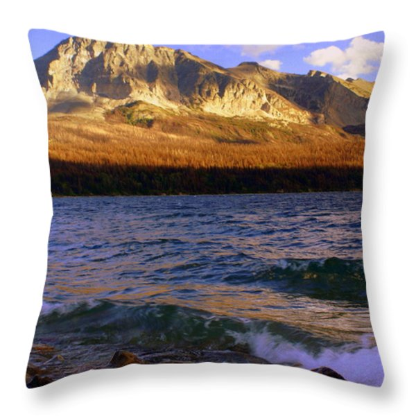 Stormy St Marys Throw Pillow by Marty Koch