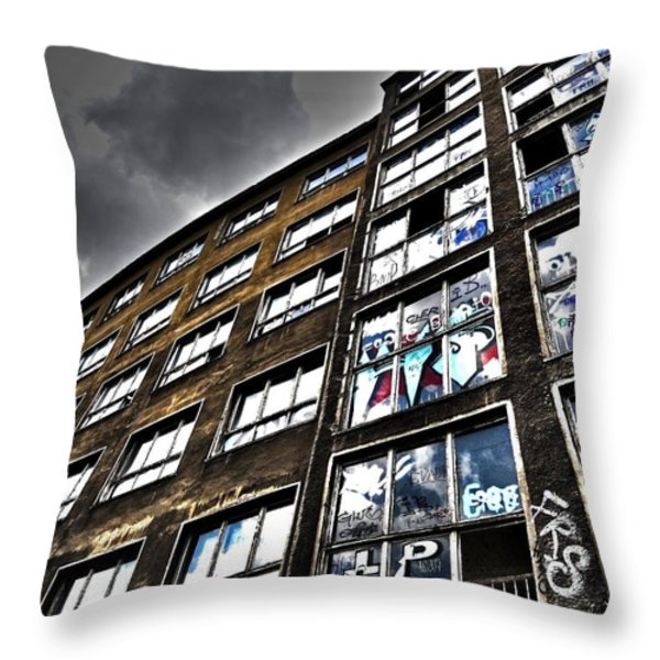 Stralauer Platz 29 - 31  Throw Pillow by Juergen Weiss