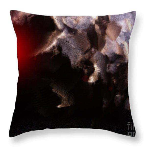 Strange Things In The Night Sky Throw Pillow by Barbara Drake