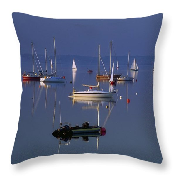 Strangford Lough, Co Down, Ireland Throw Pillow by SICI