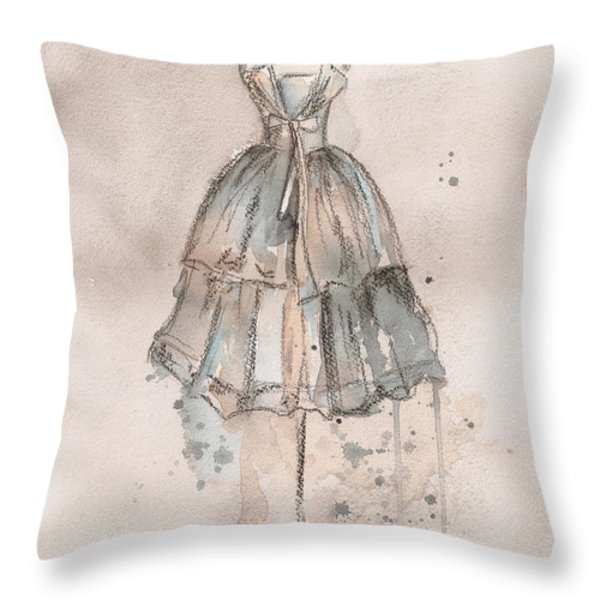 Strapless Champagne Dress Throw Pillow by Lauren Maurer