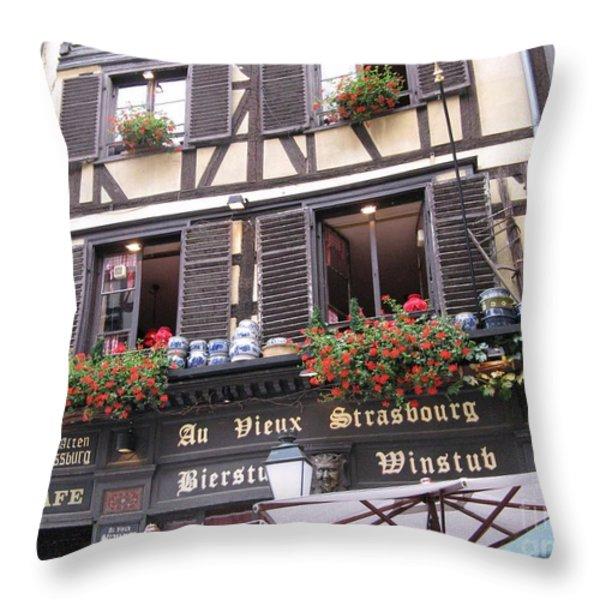 Strasbourg Throw Pillow by Arlene Carmel
