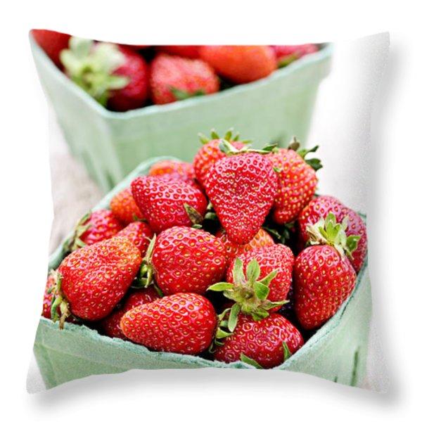 Strawberries Throw Pillow by Elena Elisseeva