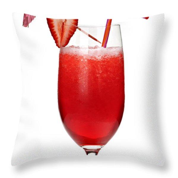 Strawberry daiquiri Throw Pillow by Elena Elisseeva