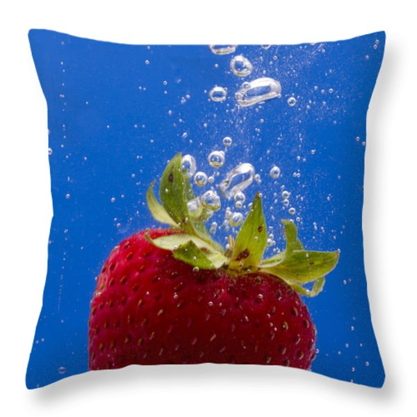 Strawberry Soda Dunk 5 Throw Pillow by John Brueske