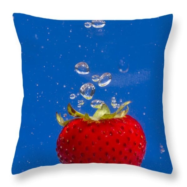 Strawberry Soda Dunk 6 Throw Pillow by John Brueske