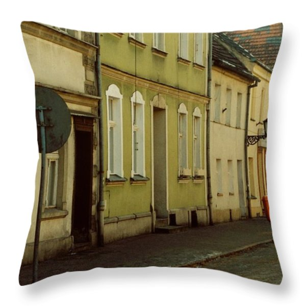 Street 2 Throw Pillow by Marcin and Dawid Witukiewicz