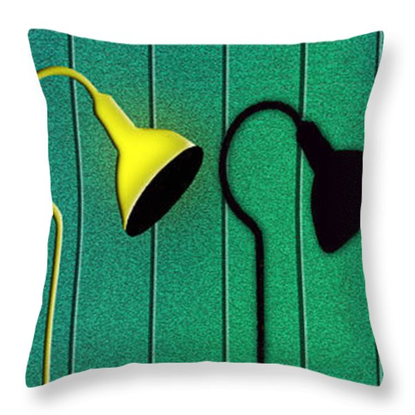 Street Life Throw Pillow by Paul Wear