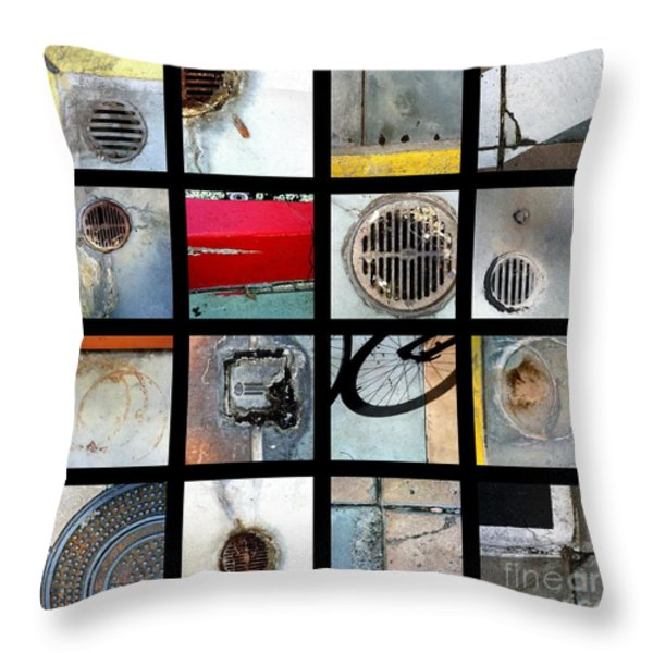 Streets Of La Jolla Poster Throw Pillow by Marlene Burns