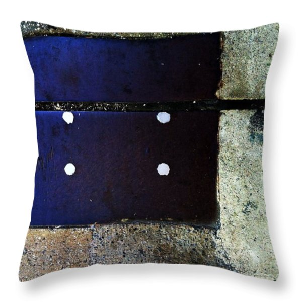 Streets Of New York Abstract Four Throw Pillow by Marlene Burns