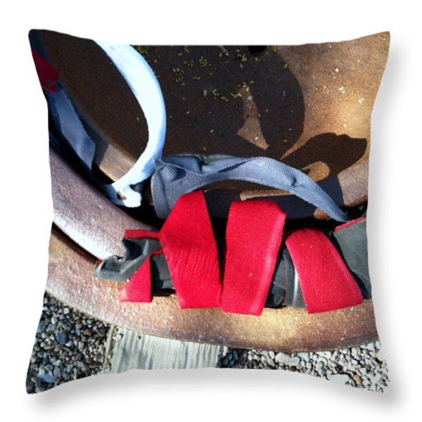 Streets Of Tucson 90 Throw Pillow by Marlene Burns