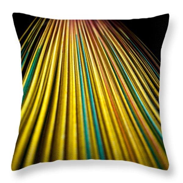 String Theory Throw Pillow by Hakon Soreide