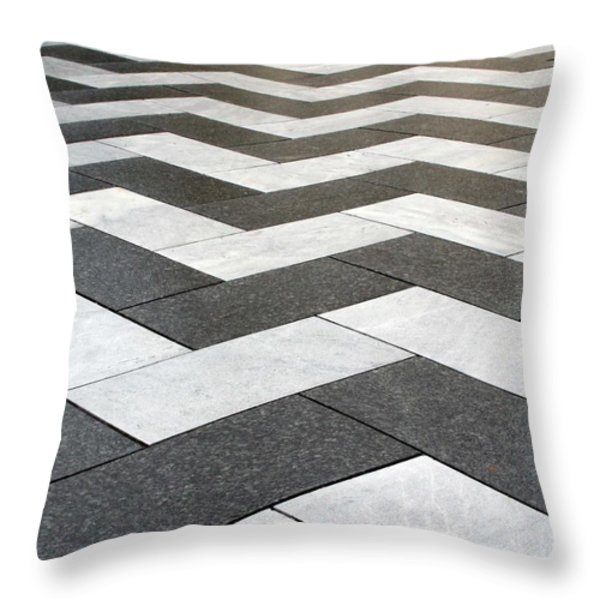 Stripes Throw Pillow by Linda Woods