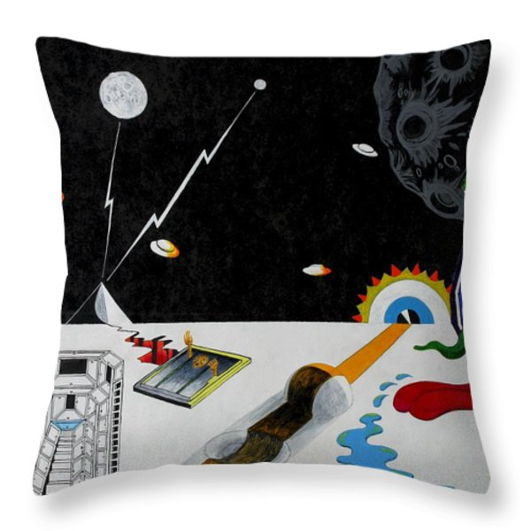 Stuck In Time And Space Throw Pillow by One Rude Dawg Orcutt