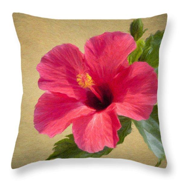 Study In Scarlet Throw Pillow by Jeff Kolker
