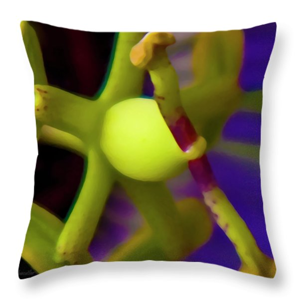 Study Of Pistil And Stamen Throw Pillow by Betsy A  Cutler