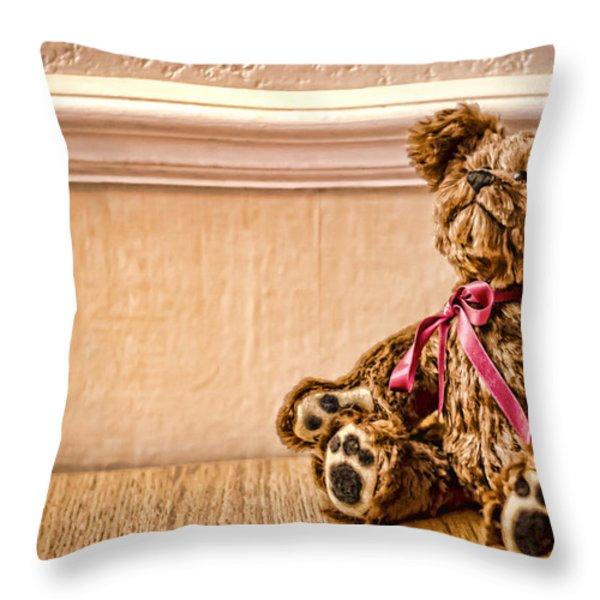 Stuffed Friend Throw Pillow by Heather Applegate