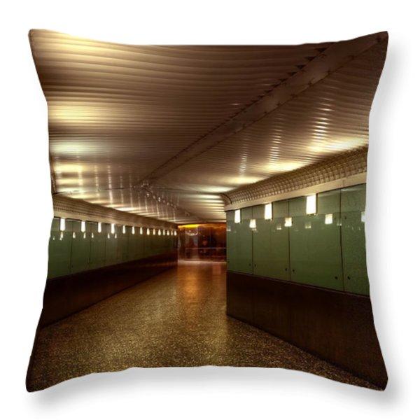 Subway Path Throw Pillow by Svetlana Sewell