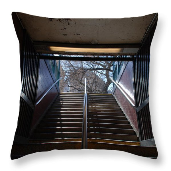 Subway Stairs To Freedom Throw Pillow by Rob Hans