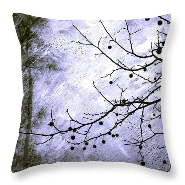 Sudden Snowstorm Throw Pillow by Judi Bagwell