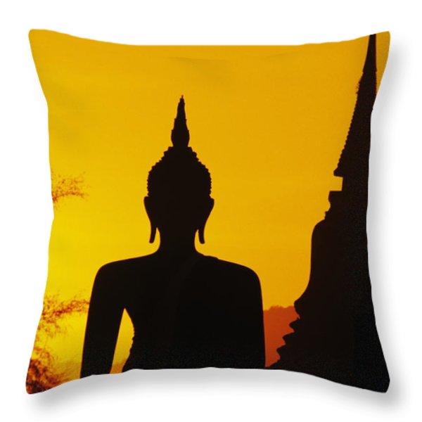 Sukhothai Temple Throw Pillow by Gloria & Richard Maschmeyer - Printscapes