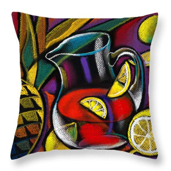 Summer Drink Throw Pillow by Leon Zernitsky