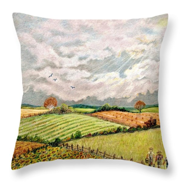 Summer Harvest Throw Pillow by Marilyn Smith