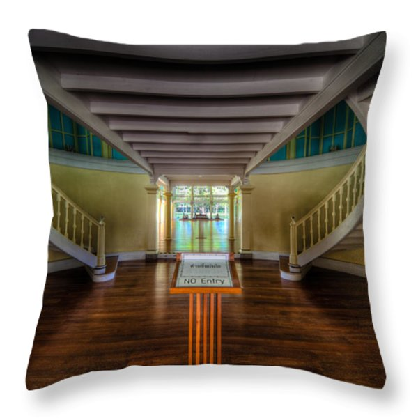 Summer Palace Throw Pillow by Adrian Evans