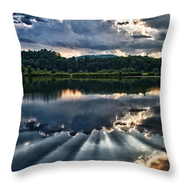 Summer Thunder Throw Pillow by Nathan Larson