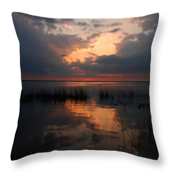 Sun Behind The Clouds Throw Pillow by Susanne Van Hulst