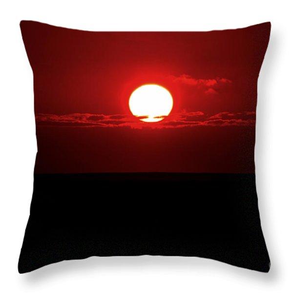 Sun Throw Pillow by Pravine Chester