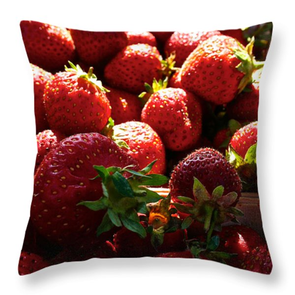 Sun Ripened Throw Pillow by Susan Herber