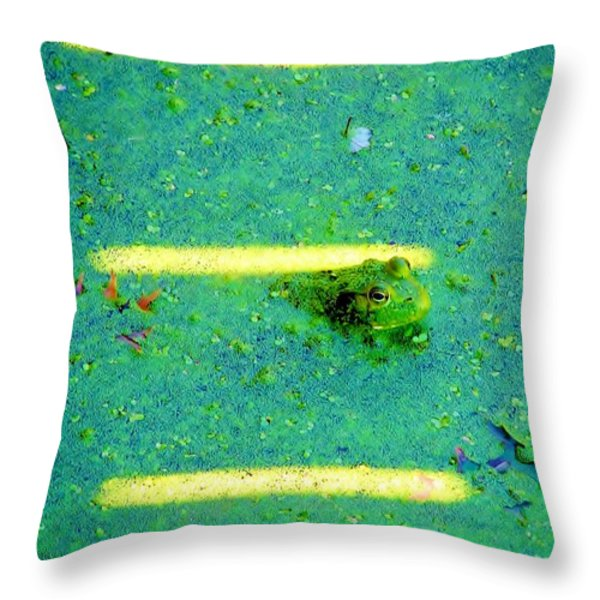 Sun Spots Throw Pillow by Michelle Milano