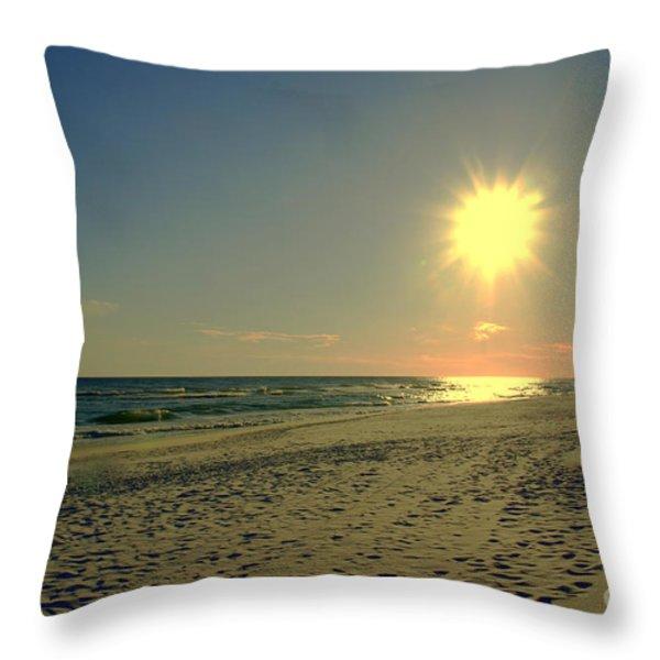Sunburst at Henderson Beach Florida Throw Pillow by Susanne Van Hulst
