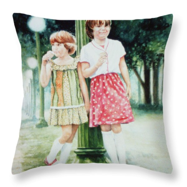 Sunday Treat Throw Pillow by Hanne Lore Koehler