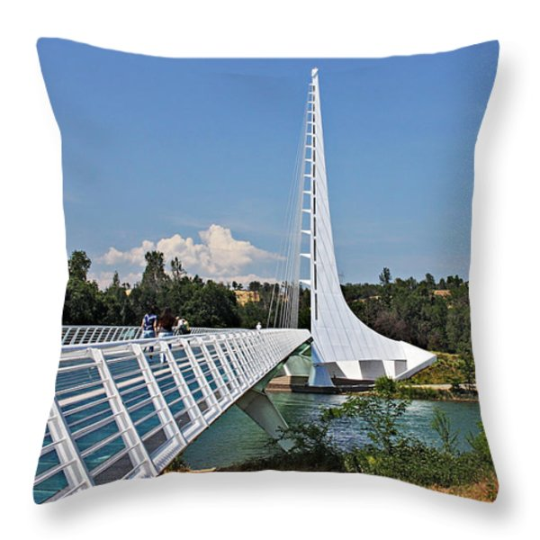 Sundial Bridge - Sit and watch how time passes by Throw Pillow by Christine Till