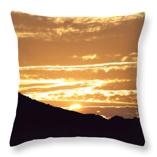 Sundown Throw Pillow by Caroline Lomeli