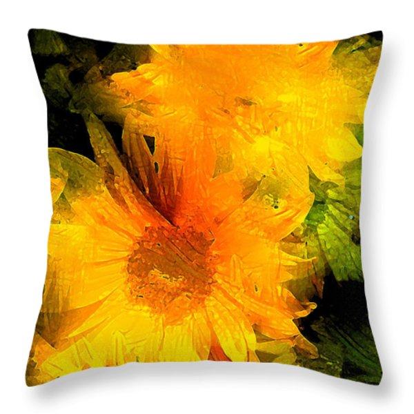 Sunflower 2 Throw Pillow by Pamela Cooper