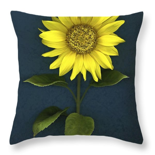 Sunflower Throw Pillow by Deddeda