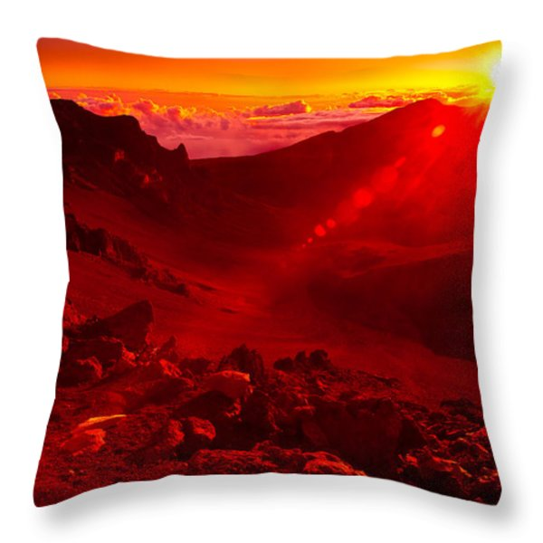 Sunrise Haleakala Throw Pillow by Harry Spitz