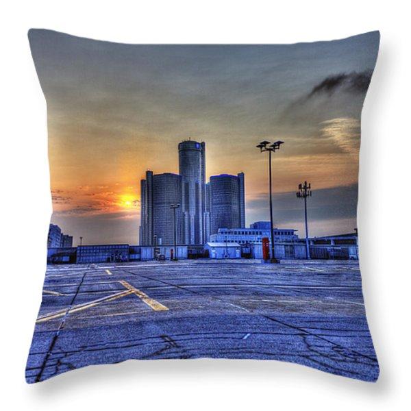 Sunrise In Detroit Mi Throw Pillow by Nicholas  Grunas