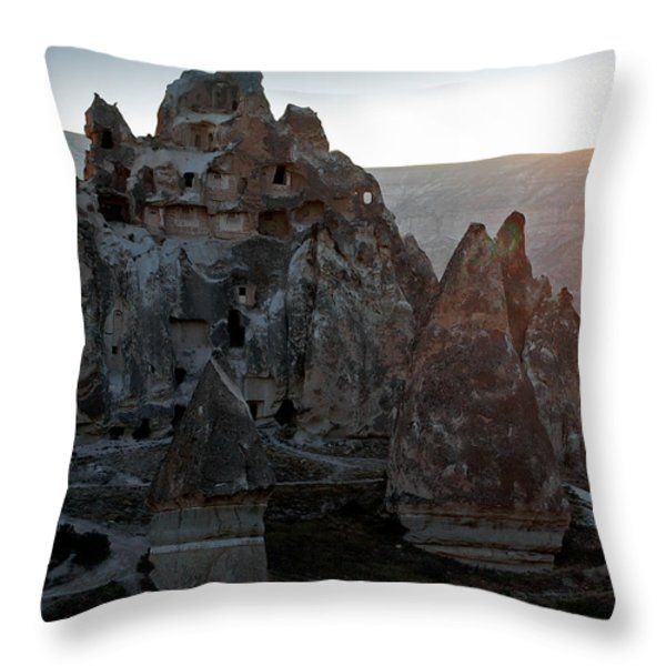 Sunrise Over Cappadocia Throw Pillow by RicardMN Photography