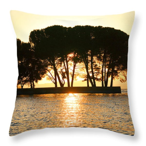 Sunset At Buckingham Point Throw Pillow by Cheryl Young